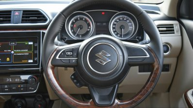 2017 Maruti Dzire steering wheel First Drive Review
