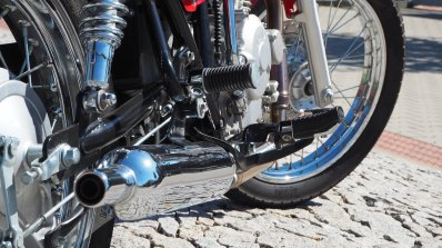 Jawa 350 OHC live images exhaust