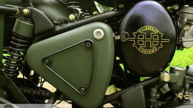 Royal Enfield Bullet 350 Encode by Haldankar Customs badging Customiser