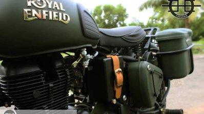 Royal Enfield Bullet 350 Encode by Haldankar Customs front to side profile