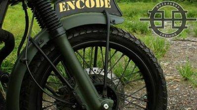 Royal Enfield Bullet 350 Encode by Haldankar Customs front wheel