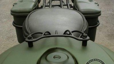 Royal Enfield Bullet 350 Encode by Haldankar Customs fuel tank grille