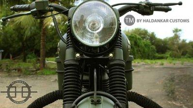 Royal Enfield Bullet 350 Encode by Haldankar Customs headlamp