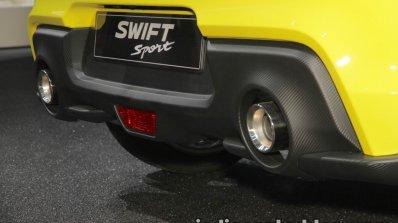 2018 Suzuki Swift Sport diffuser and dual exhaust at IAA 2017