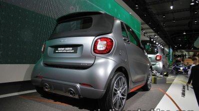 Smart Fortwo Brabus edition asphaltgold rear quarter showcased at the IAA 2017