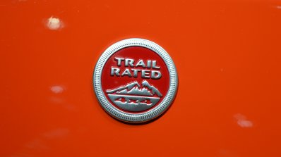 Jeep Compass Trailhawk Trail Rated badge at 2017 Dubai Motor Show