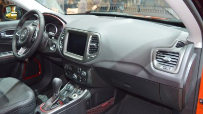 Jeep Compass Trailhawk dashboard side view at 2017 Dubai Motor Show