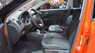 Jeep Compass Trailhawk front seats at 2017 Dubai Motor Show
