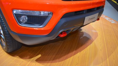 Jeep Compass Trailhawk front tow hook at 2017 Dubai Motor Show