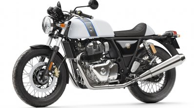 Royal Enfield Continental GT 650 Twin White press shot front left quarter