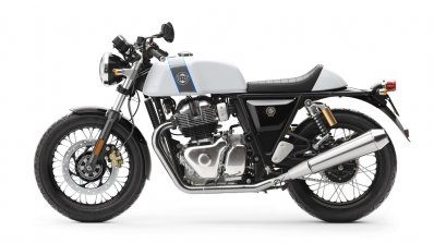Royal Enfield Continental GT 650 Twin White press shot left side