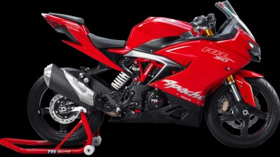 TVS Apache RR 310 Racing Red colour