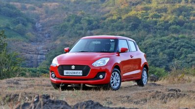 2018 Maruti Swift test drive review front angle view