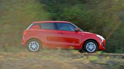 2018 Maruti Swift test drive review side action view