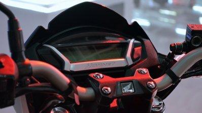 2018 Honda CB Hornet 160R instrumentation at 2018 Auto Expo