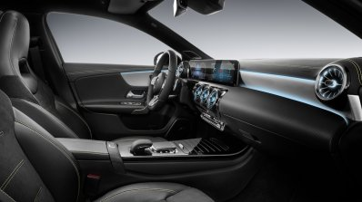 2018 Mercedes A-Class interior dashboard side view