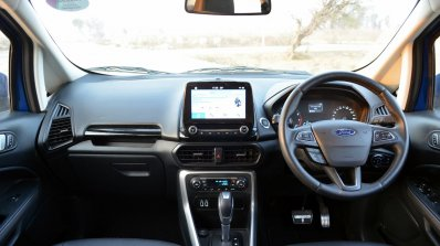 Ford EcoSport Petrol AT review dashboard