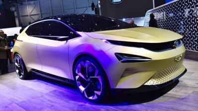 Tata 45X concept front three quarters right side at 2018 Geneva Motor Show