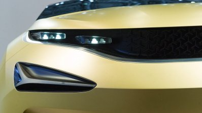 Tata 45X concept headlamp and Tri-Arrow pattern at 2018 Geneva Motor Show