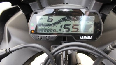 Yamaha YZF-R15 v3.0 track ride review instrument cluster on