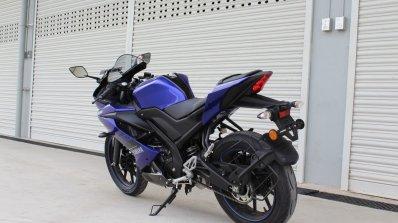 Yamaha YZF-R15 v3.0 track ride review rear left quarter