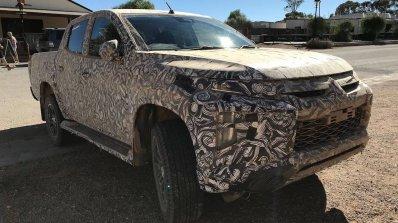 2018 Mitsubishi Triton (facelift) front three quarters spy shot