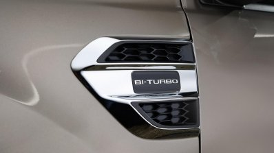 Facelifted Ford Everest (Facelifted Ford Endeavour) Bi-Turbo badge