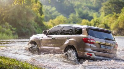 Facelifted Ford Everest (Facelifted Ford Endeavour) rear three quarters off-roading