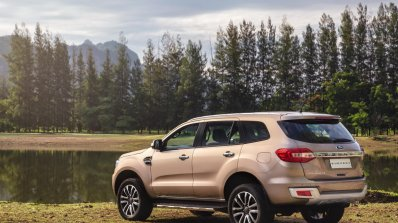 Facelifted Ford Everest (Facelifted Ford Endeavour) rear three quarters