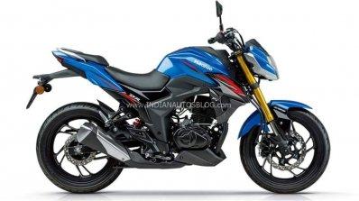 Haojue Dr300 Suzuki Gsx S300 Blue Side Profile