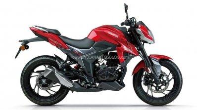 Haojue Dr300 Suzuki Gsx S300 Red Side Profile