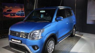 Accessorised 2019 Maruti Wagonr Blue Front Three Q