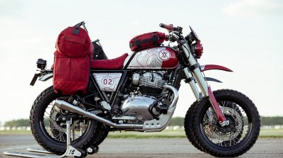Royal Enfield Interceptor 650 modified as rally-spec bikes