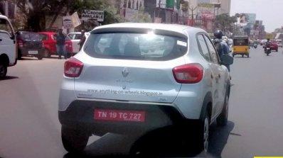 Renault Kwid Sce 1l Rear Spied