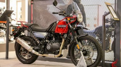 Royal Enfield Himalayanrock Red Front Three Quarte
