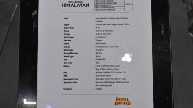 2020 Royal Enfield Himalayan Rock Red Specificatio