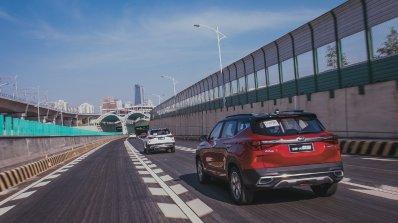 2020 Kia Kx3 Kia Seltos Rear Three Quarters Media