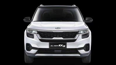 2020 Kia Kx3 Kia Seltos White Front