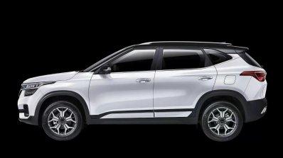 2020 Kia Kx3 Kia Seltos White Profile