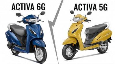Honda Activa 6g Vs Honda Activa 5g Comparison Ddd1