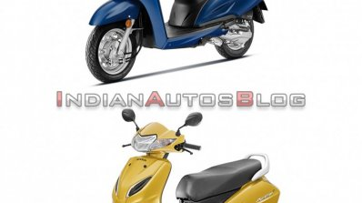 Honda Activa 6g Vs Honda Activa 5g Front Three Qua