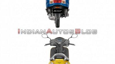 Honda Activa 6g Vs Honda Activa 5g Rear Profile 9c