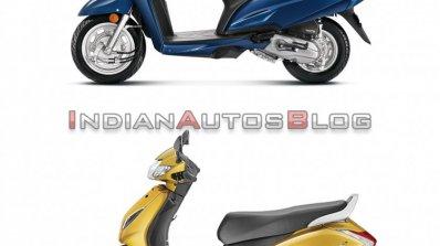 Honda Activa 6g Vs Honda Activa 5g Side Profile Le