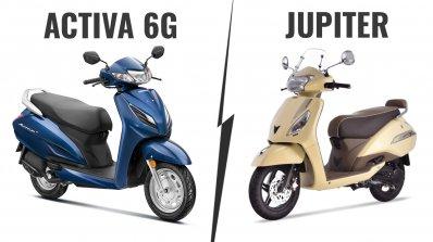 Honda Activa 6g Vs Tvs Jupiter Classic 391d