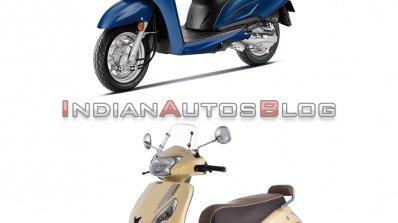 Honda Activa 6g Vs Tvs Jupiter Classic Front Three