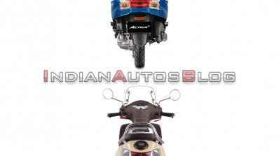 Honda Activa 6g Vs Tvs Jupiter Classic Rear Profil