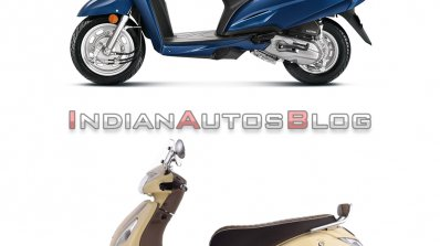 Honda Activa 6g Vs Tvs Jupiter Classic Side Profil