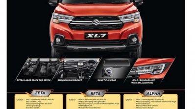 maruti xl6 based suzuki xl7 exterior interior brochure prices leaked video maruti xl6 based suzuki xl7 exterior