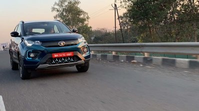 Tata Nexon Ev Image Front Three Quarters Action 3