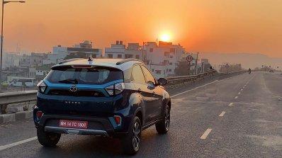 Tata Nexon Ev Image Rear Three Quarters Action 87e